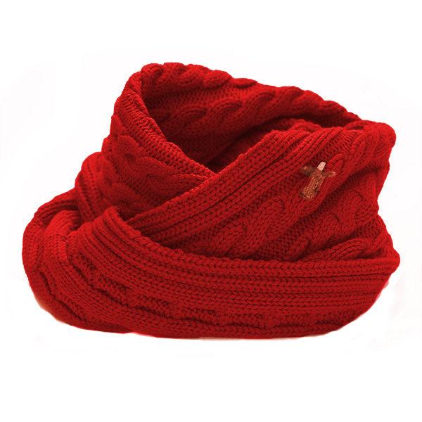 Loop Schal mit Zopf