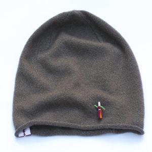 Mütze, Sommerbeanie, Kaschmir, Nougat