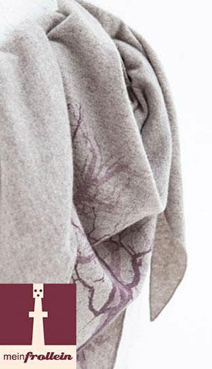 Kaschmirschal von Meinfrollein mit Motiv