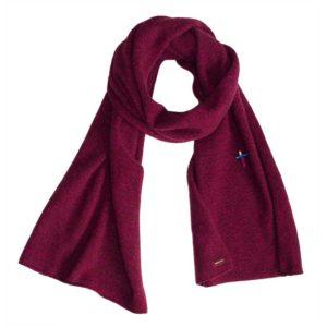 Meinfrollein Schal aus recyceltem Kaschmir , Berry Bordeaux