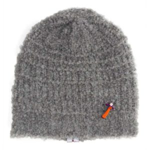 Bio Strickbeanie, organic wool, Grau