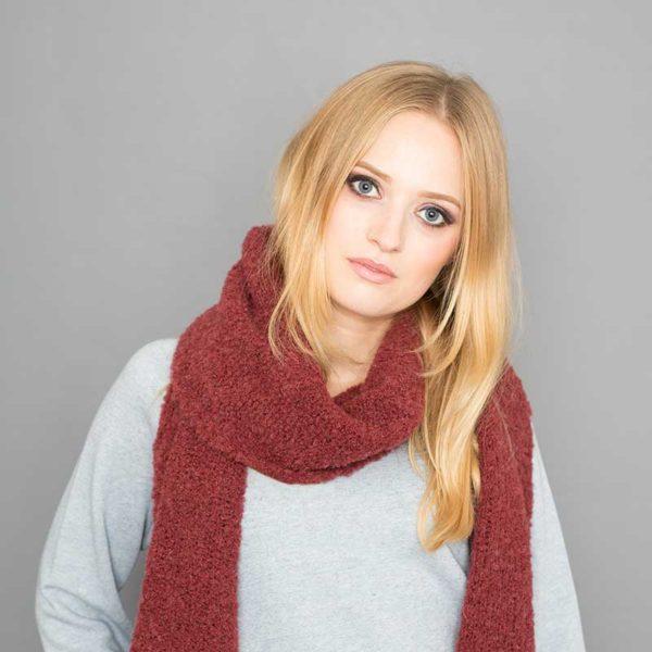 Bio Kuschelschal, organic wool, Rostrot
