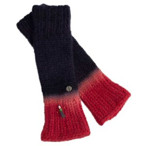 Armstulpen, Biowolle, Rot/Blau