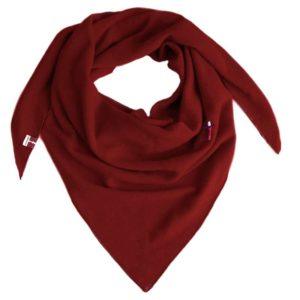 Cashmere Dreiecktuch, 100% Kaschmir von Meinfrollein, Rubin Rot