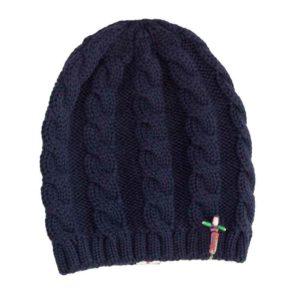 Wollbeanie Mütze Indira aus Merinowolle, Marine