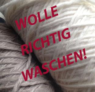 Wolle richtig waschen