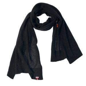 Außergewöhnlicher Kaschmir Schal, 100% Kaschmir, Schwarz