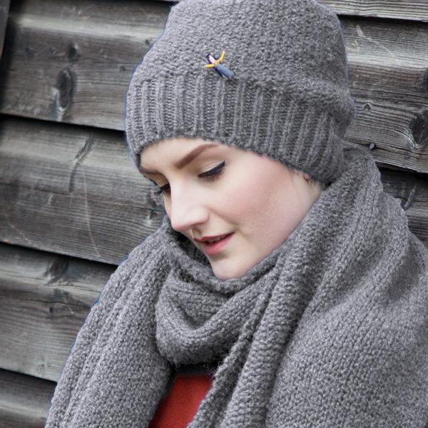 Biomütze aus Organic Wool von Meinfrollein, Grau