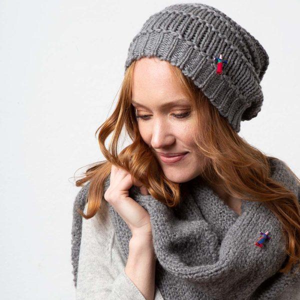 Damen Wollmütze GRETA aus Biowolle, Grau