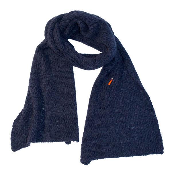 Kuschel Strickschal, Biowolle, Navy Blau