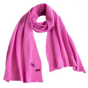 feiner Kaschmir Schal mit Lochmuster von meinfrollein, Pink Rosa