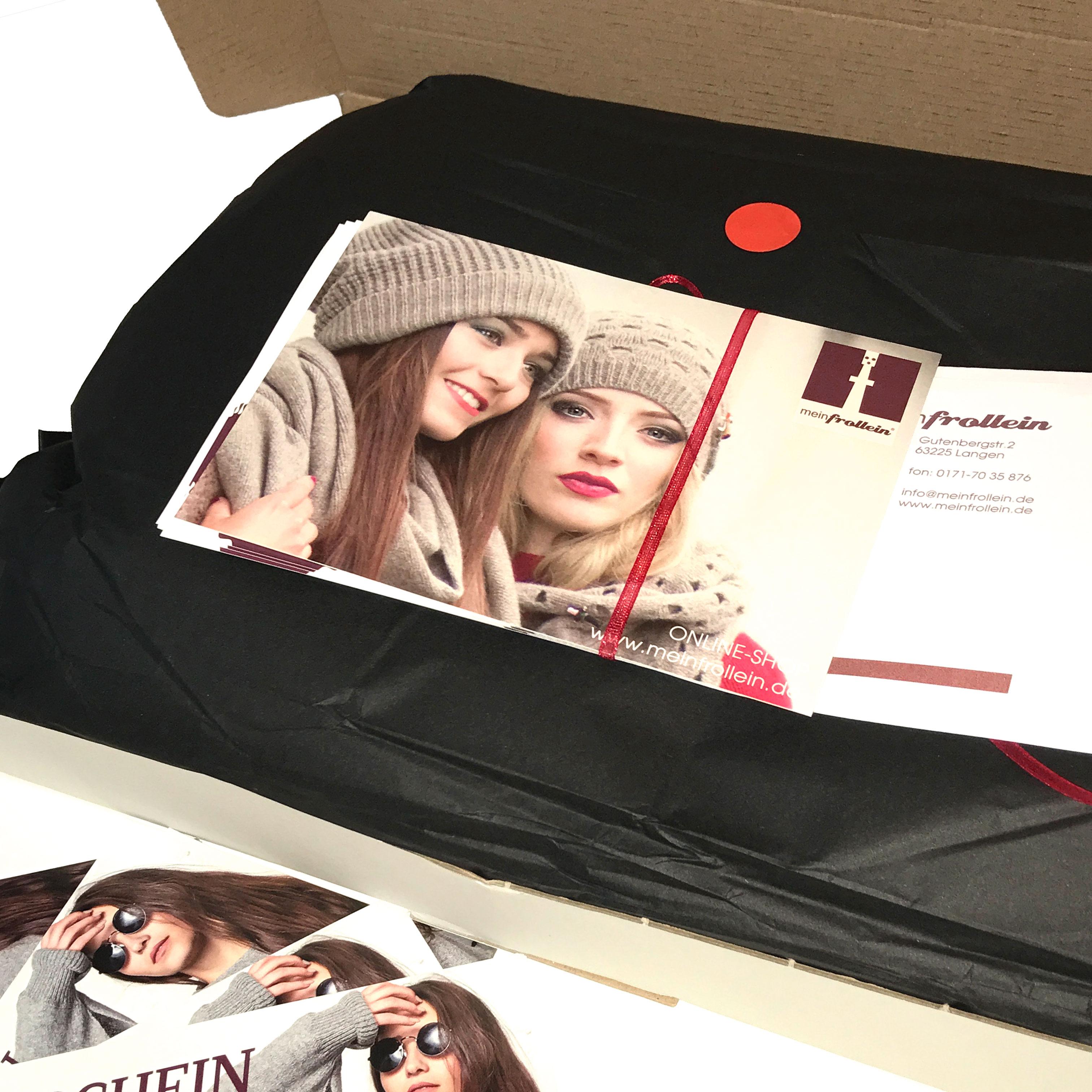 Liebevoll verpackt mit persönlicher Grußkarte -so verlassen meinfrollein Produkte das Haus!