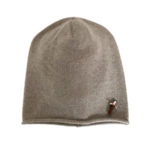 Meinfrollein Cashmere Mütze, Cream Beige aus 100% Kaschmir
