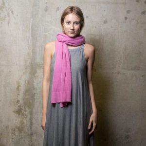 Meinfrollein Kaschmir Schal auch als Stola zum Sommerkleid, Pink