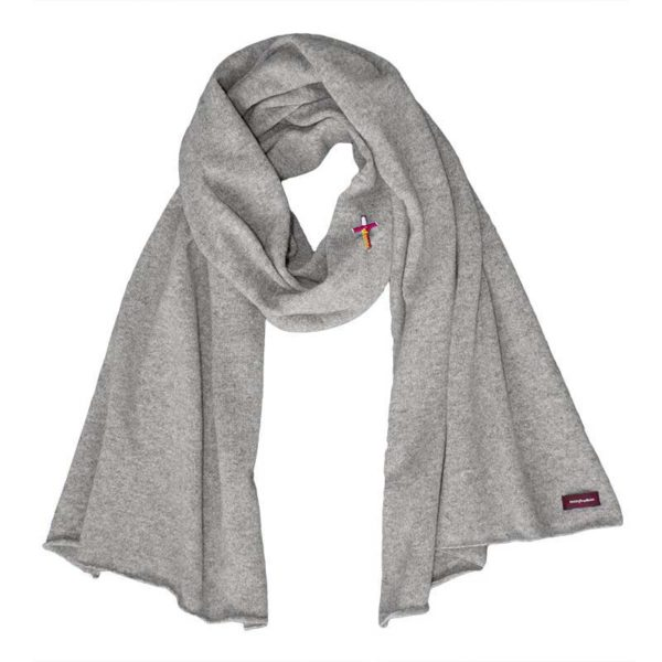 9c6c07238fd40 cosy scarf high quality cashmere, Grey   meinfrollein.