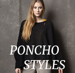 Poncho Schal und Capes von Meinfrollein, made in Germany