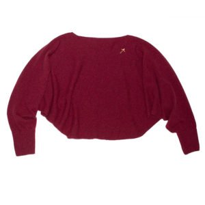 Alpaka Poncho Pulli ANNA, 100% made in Germany, Rot