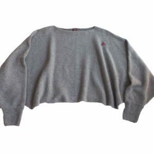 Two-in-one Poncho Pulli Anna, Alpakagarn von Meinfrollein