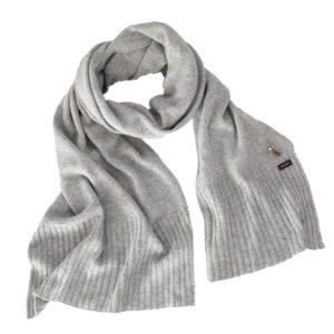 Alpaka Schal von Meinfrollein, Silber Grau