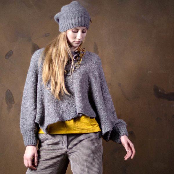 Fashion Poncho Bette in Bioqualität von Meinfrollein, Col. Grau