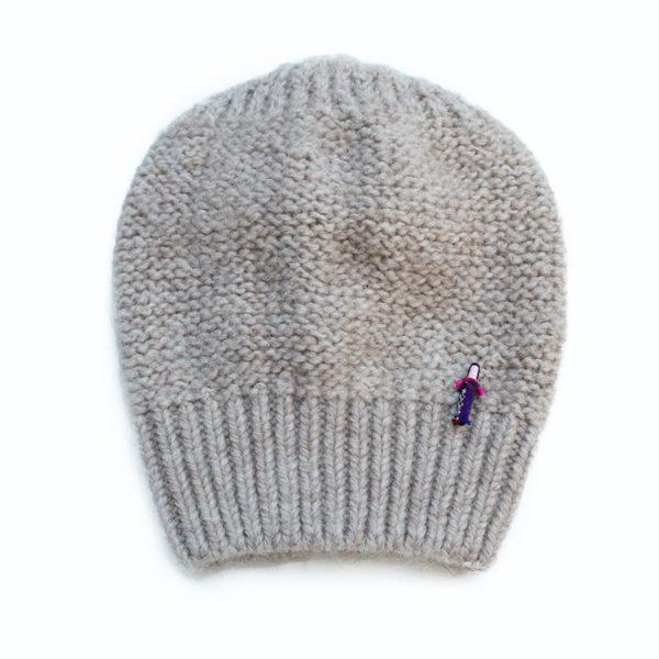 Beanie Mütze Zarah aus Biowolle von Meinfrollein, Puder Beige