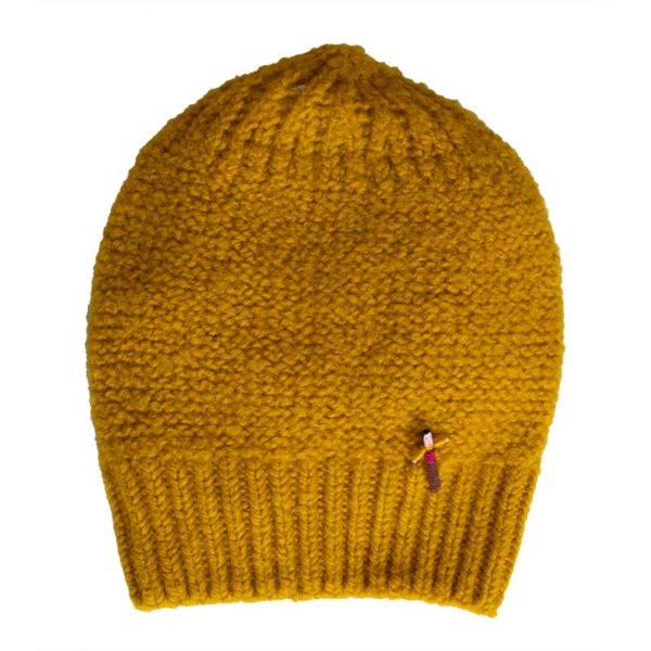 Beanie Mütze Zarah aus Biowolle, Gold Gelb