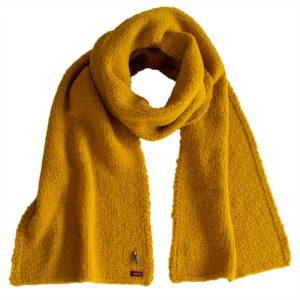 Kuschel Strickschal in Bioqualität von Meinfrollein, Gold Gelb