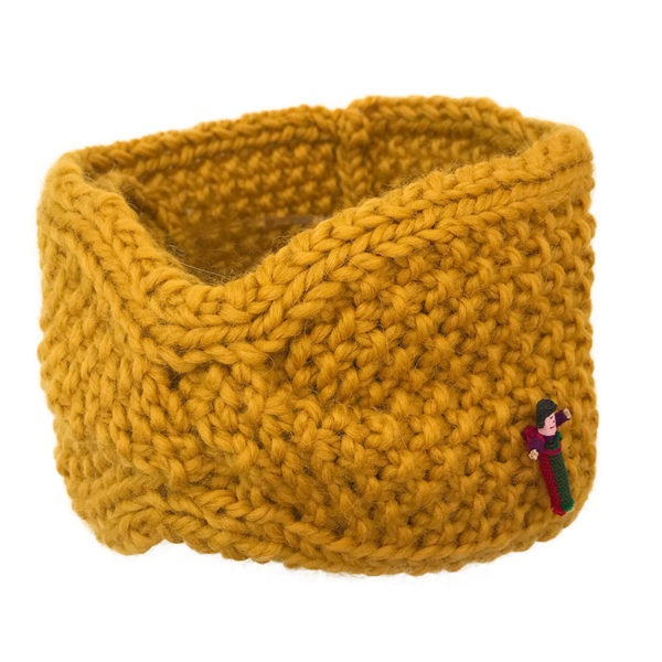 Biostirnband aus Biowolle von Meinfrollein, Gold Gelb