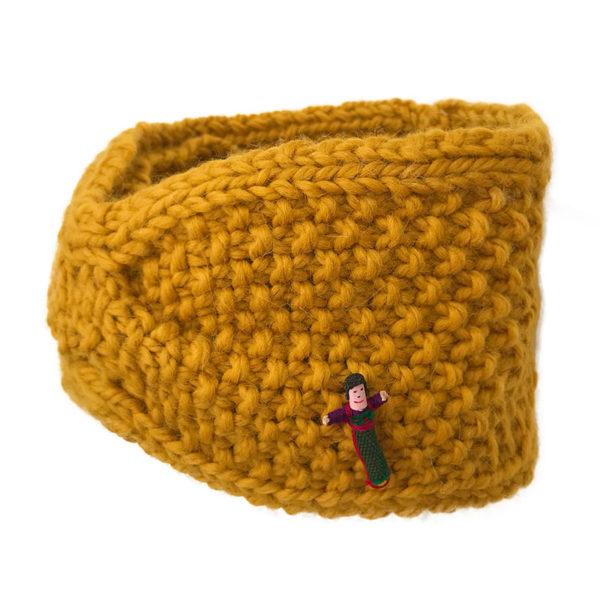 Trendstirnband aus Biowolle von Meinfrollein, Gold Gelb