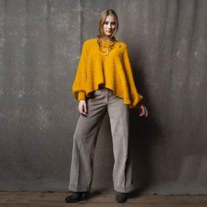 Fashion Bio Poncho Bette von meinfrollein, Gelb