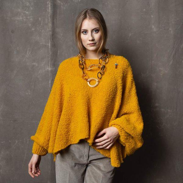 Fashion Poncho Bette von meinfrollein, Gelb