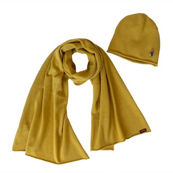 Mütze Schal Set aus 100% Kaschmir von Meinfrollein
