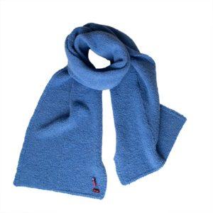 Kuschel Strickschal in Bioqualität von Meinfrollein, Bluejeans Blau