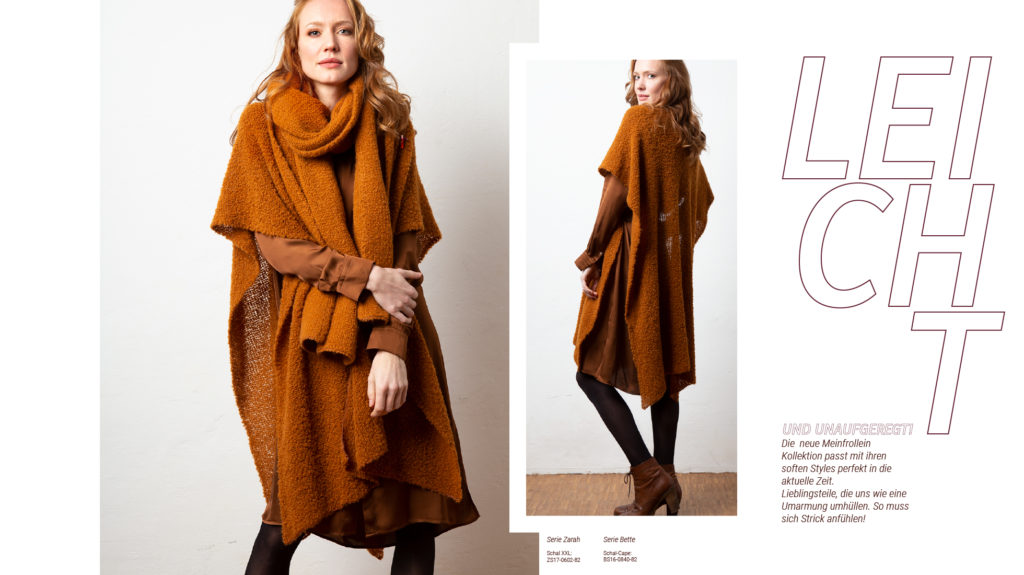 Meinfrollein Cape Bette- Made in Germany