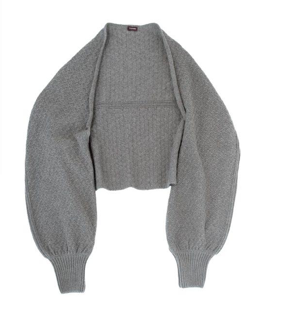 Bolero Shrug Jäckchen aus alpakawolle, von Meinfrollein, Grau