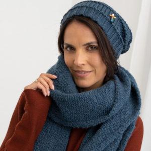 Damen Wollmütze GRETA aus Biogarn, von Meinfrollein, Smaragd Petrol